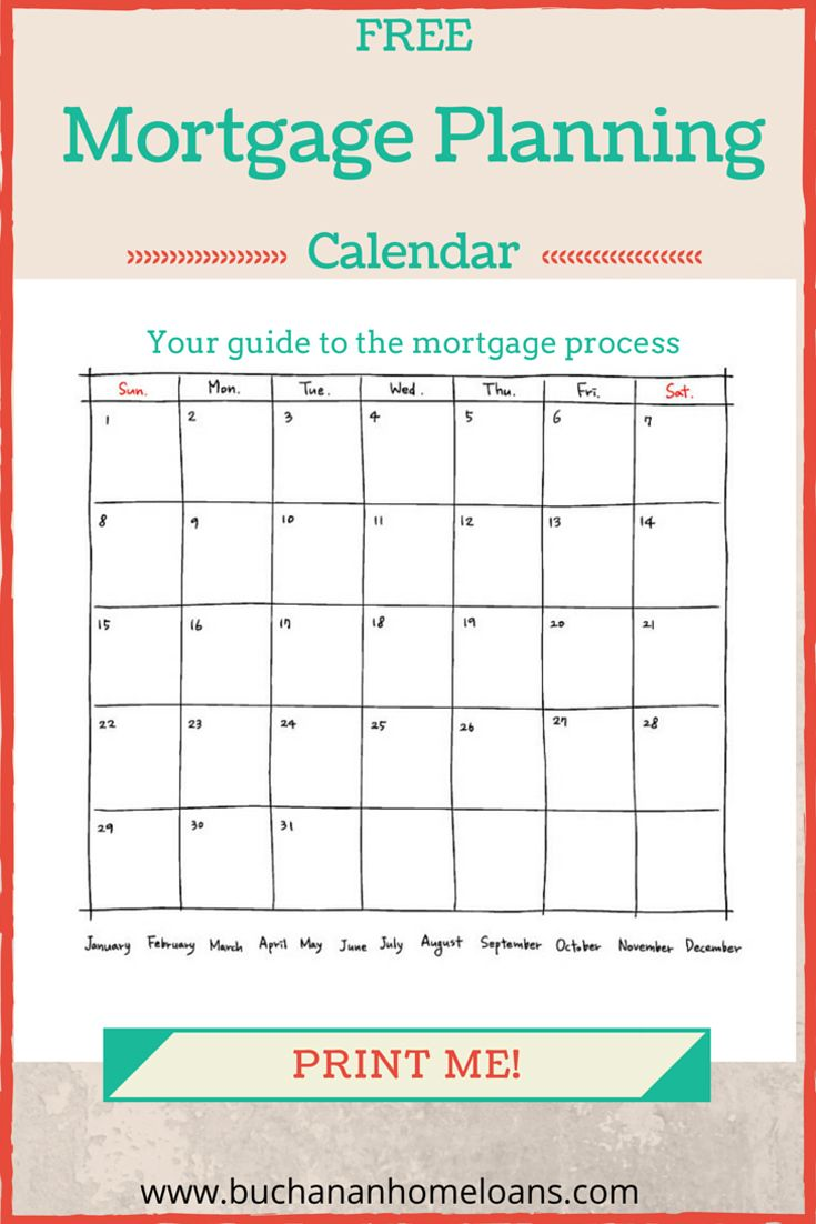 Mortgage Planning Calendar The Process For Buying A Home Financialplan Newhome Mortgage Mortgage Process Planning Calendar Mortgage