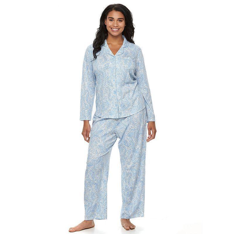 dd1ef7f9 Plus Size Croft & Barrow® Pajamas: Knit Notch Collar PJ Set ...