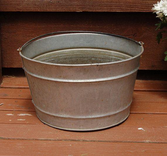 galvanized wash tub vintage round galvanized basin for sale galvanized wash tub wash tubs. Black Bedroom Furniture Sets. Home Design Ideas