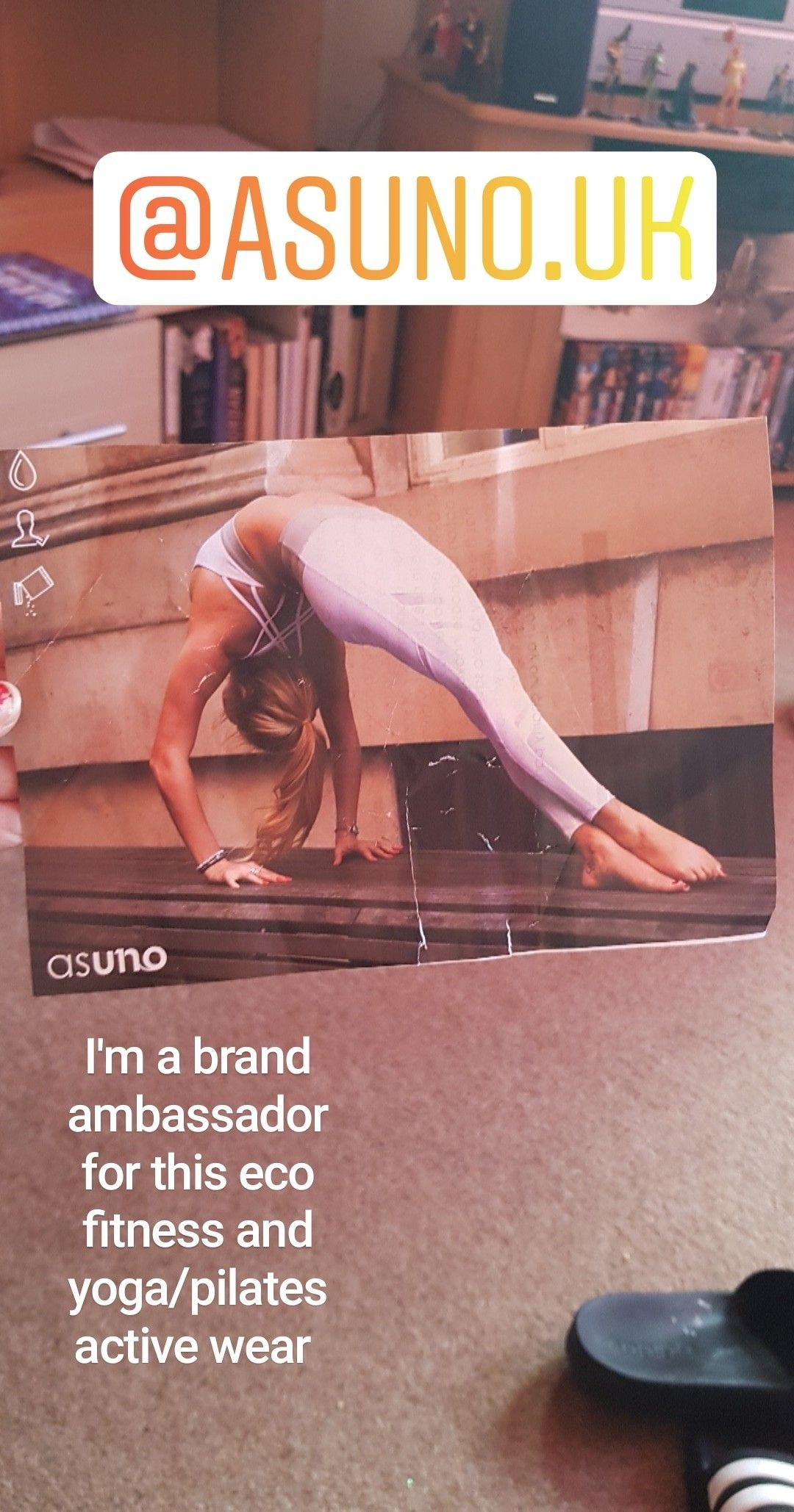 Asuno active wear brand fitness brand ambassador
