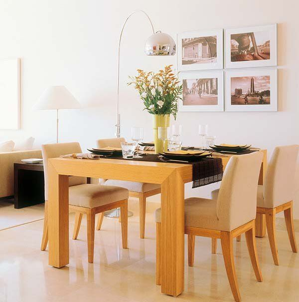 Comedor madera clara  Living room en 2019  Dinner tables