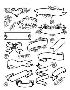 Bible Journaling Clip Art 4 pages to create fun and beautiful designs in your bible christian study scriptures