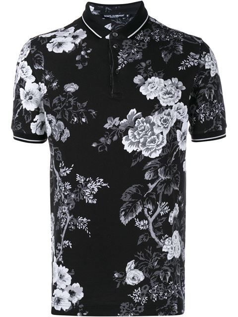 4b9c4380 Dolce & Gabbana Floral Print Polo Shirt | Men's Fashion and ...
