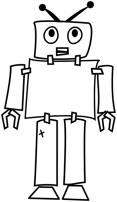 Image For Robot Outline Clip Art Technology Clip Art Free Download