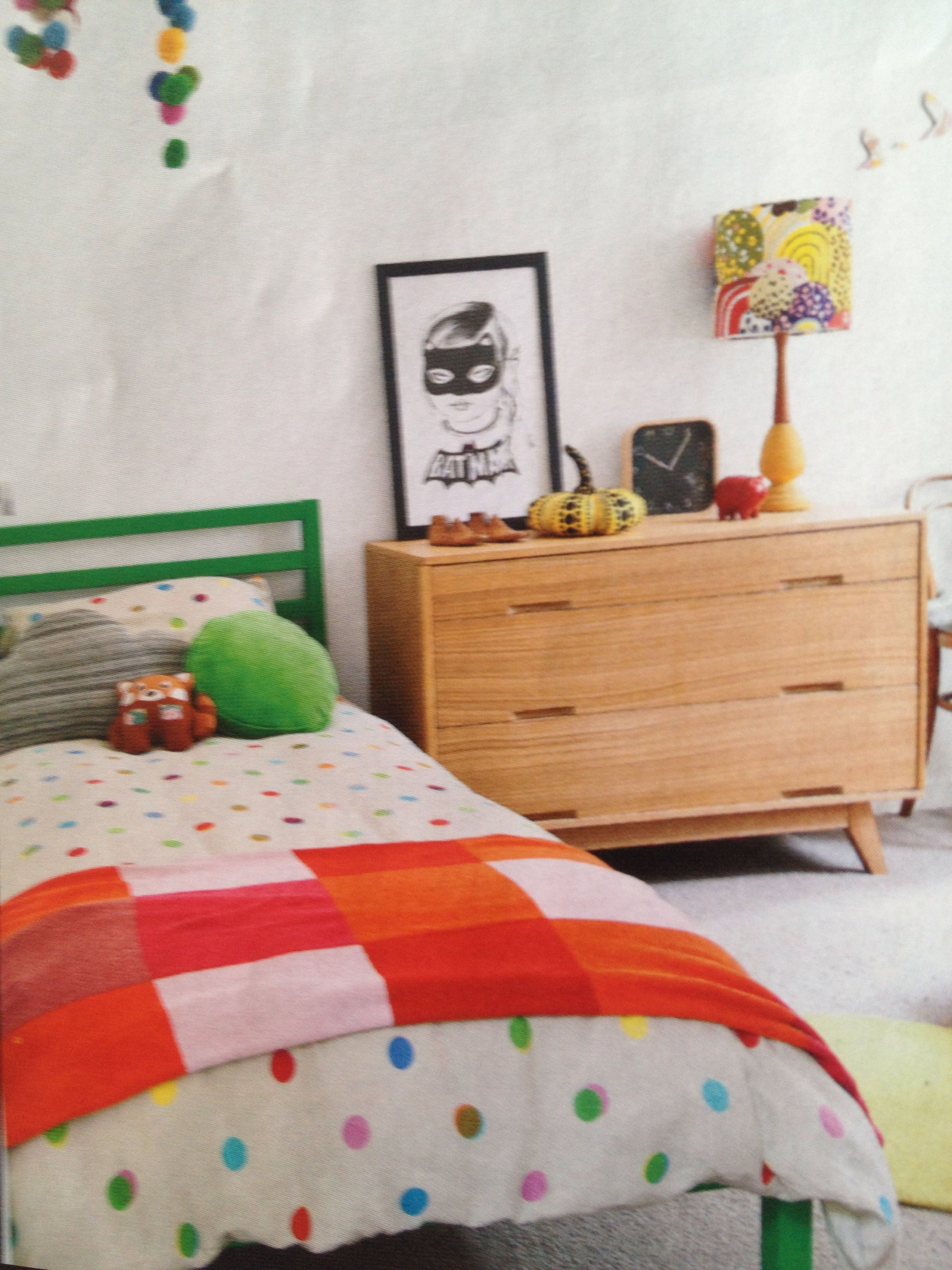 Dulux Kids Bedroom In A Box: IKEA Tarva Bed Painted In Dulux Picturebook. From Home