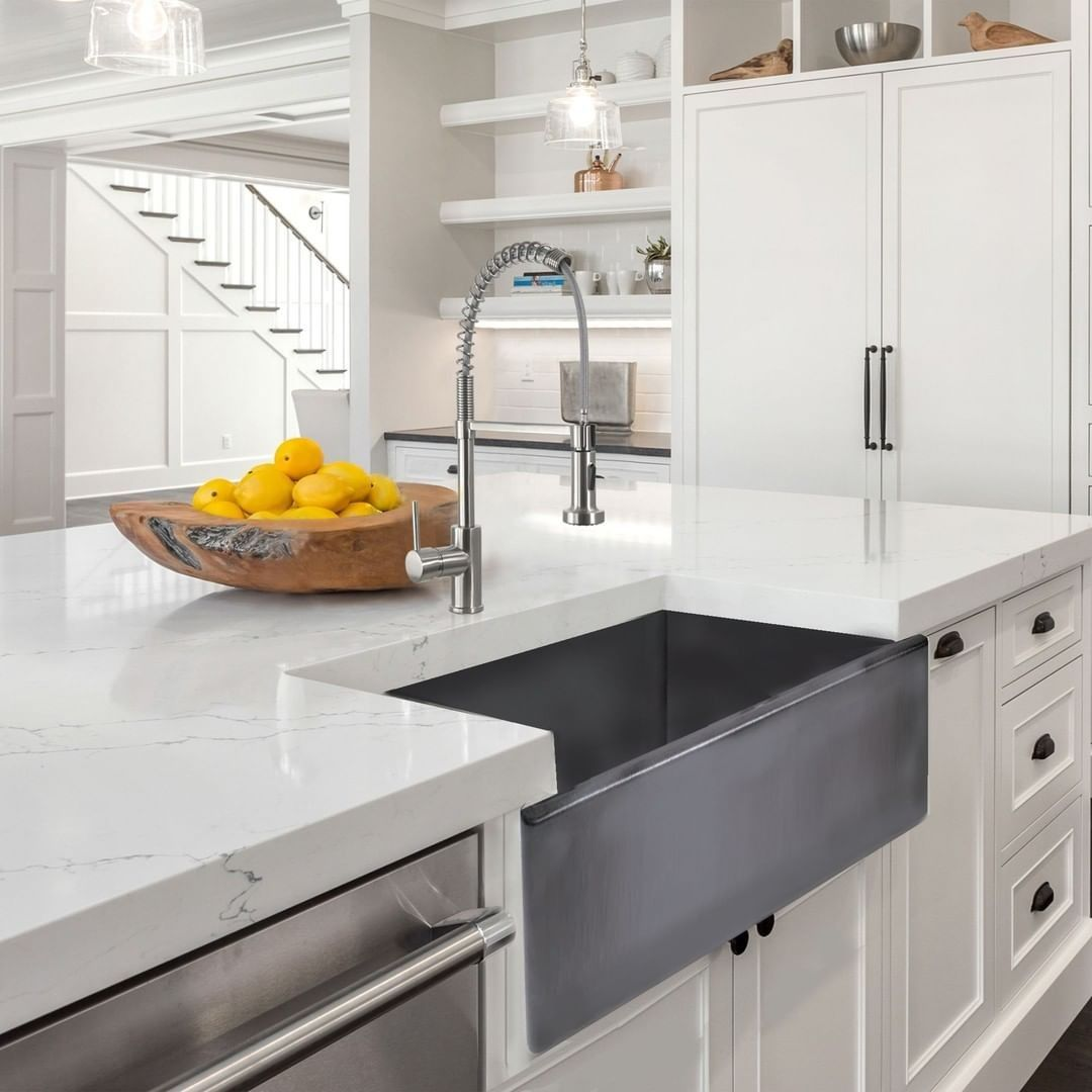 Directsinks Posted To Instagram We All Love Fireclay Sinks But Have You Seen Nantucketsinks New Concrete Finish On Their Fireclay Farmhouse Sink Kitchen Sink Single Bowl Kitchen Sink