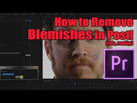 How to Remove Blemishes/Pimples in Premiere (really) - Tip