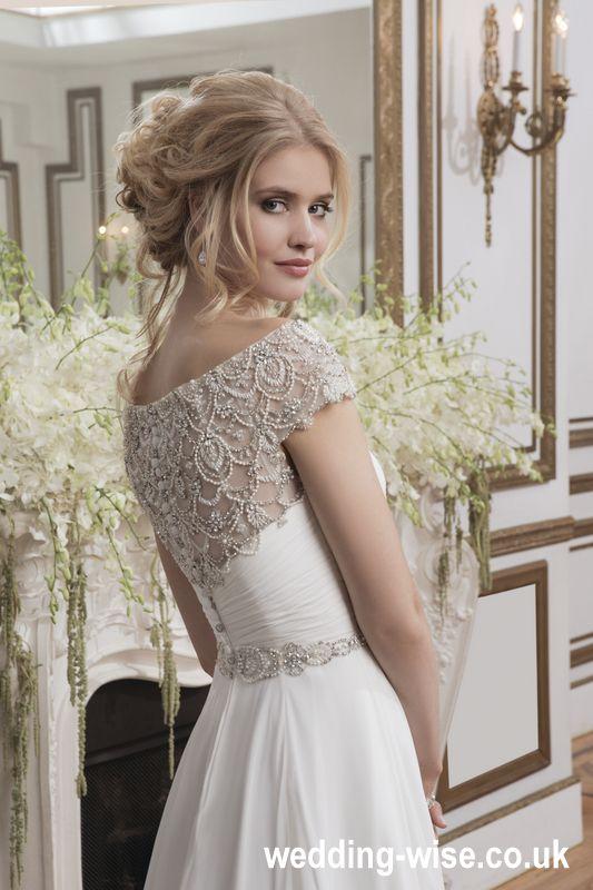 chiffon ball gown wedding dress back detail wedding-wise.co.uk ...