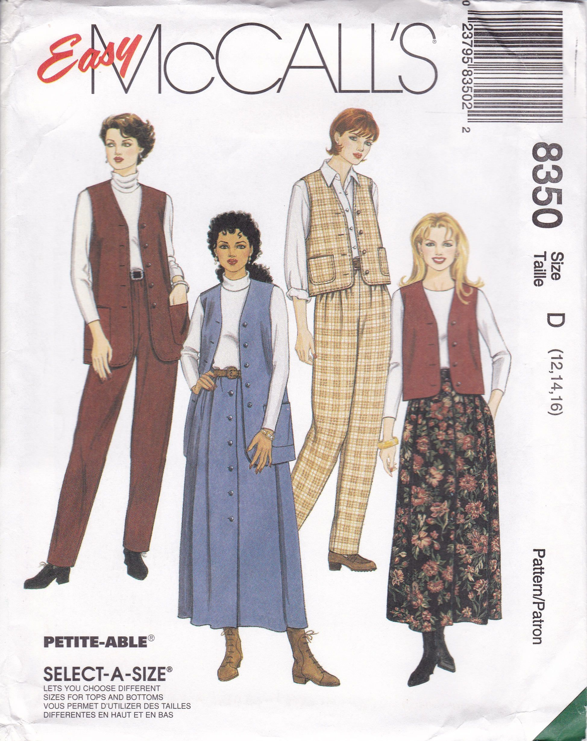 Choose Your SKIRT or PANTS Pattern Many McCALLS UNCUT