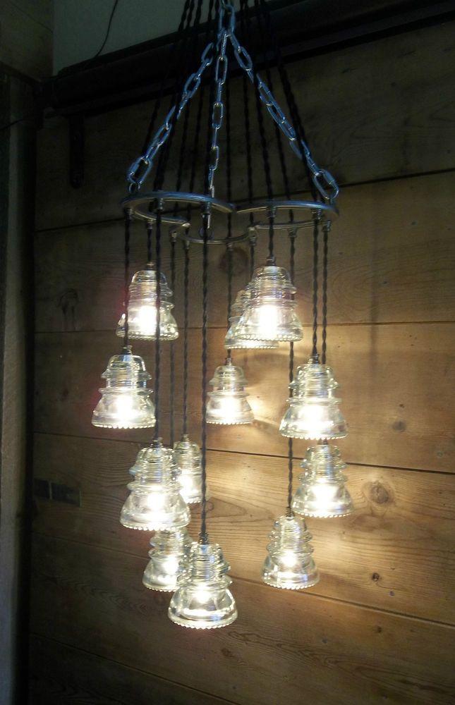 Horse shoe antique glass insulator pendant chandelierlight fixture horse shoe antique glass insulator pendant chandelierlight fixture glass art wecreatedit aloadofball Choice Image