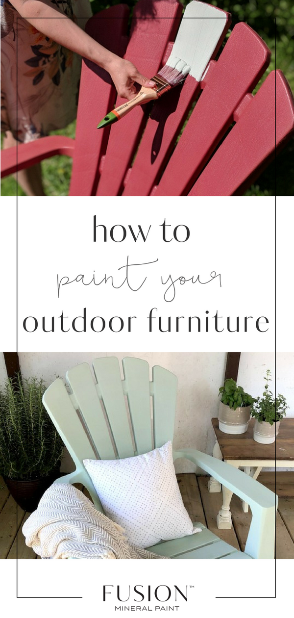How To Paint Outdoor Furniture Painted Outdoor Furniture