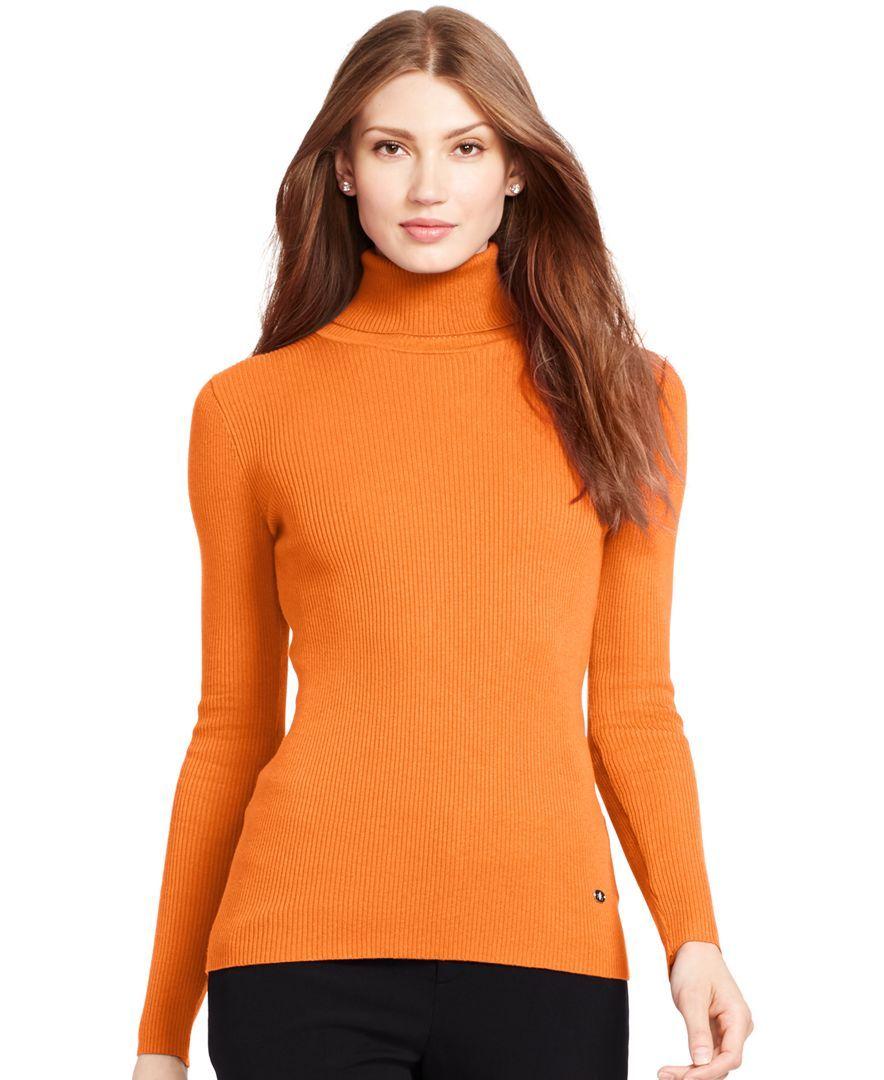 Lauren Ralph Lauren Ribbed Turtleneck Sweater | Products ...