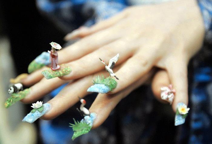 Japanese Nail Art Inspiration 04 | Beaded & Covered Nails ...