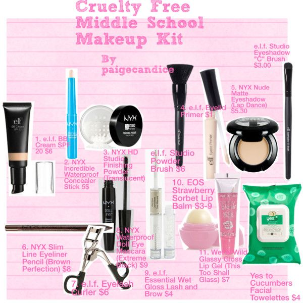 Cruelty-Free Middle School Makeup Kit. Great for middle school girls who are just beginning to put on makeup