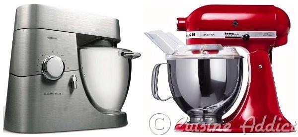 K vs. KA : Kenwood contre Kitchen Aid, lequel choisir Robot De Cuisine Kitchenaid on
