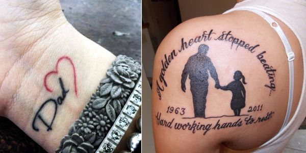 Love Your Dad Tattoo: Love You Dad Tattoo Ideas - Mytattooland.com