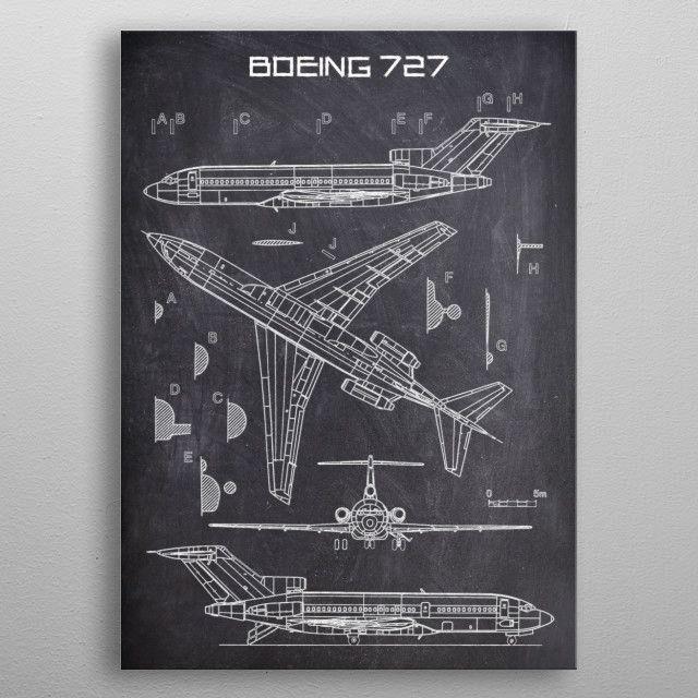 BOEING 727 by FARKI15 DESIGN | metal posters - Displate | Displate thumbnail