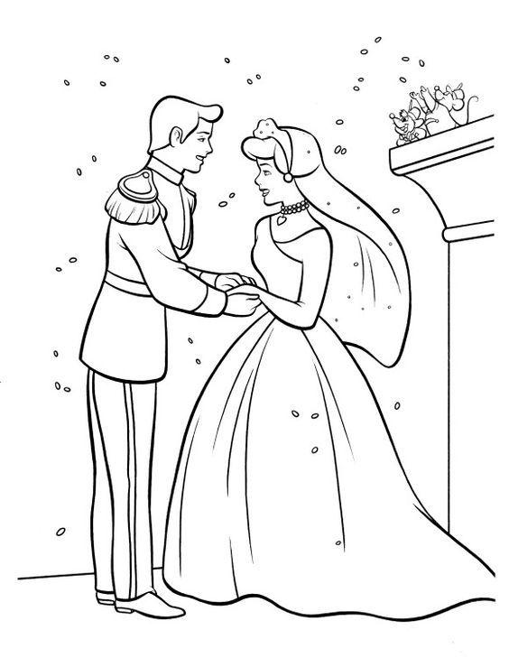 40 Super Ideas For Wedding Disney Cinderella Snow White Cinderella Coloring Pages Disney Princess Coloring Pages Disney Coloring Pages