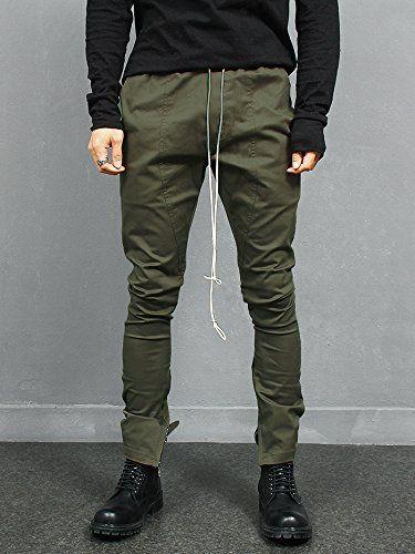 Gentler Men's Fashion Street Fashion Style Spandex Zipper Hem Slim Sweatpants  Street Fashion Style Spandex Zipper Hem Slim Sweatpants – Slim fit sweatpants in 2 colors. – Elasticized waistband with long strap. – 4 pockets. Zippered hem styling. – 98% Cotton, 2% Spandex. Machine wash cold. – Model is wearing W28~W30 (Label 46 ) size. Slim fit sweatpants in 2 colors. Slim fit sweatpants in 2 colors. sticized waistband with long strap. Slim fit sweatpants in 2 colors. Slim fit sweatpan..