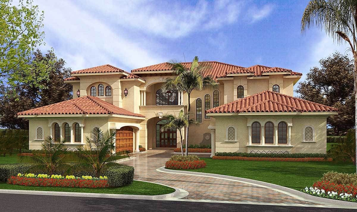 Plan 32065aa Luxury Mediterranean Style In 2020 Mediterranean Style House Plans Mediterranean Style Homes Luxury House Plans