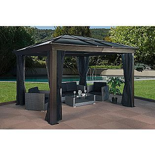 10x14 Gazebo Hard top roof | Gazebo curtains, Hardtop ...