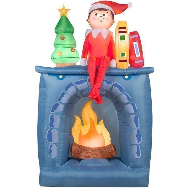 National Tree Company 77-in Inflatable Elf Indoor / Outdoor - inflatable outdoor christmas decorations