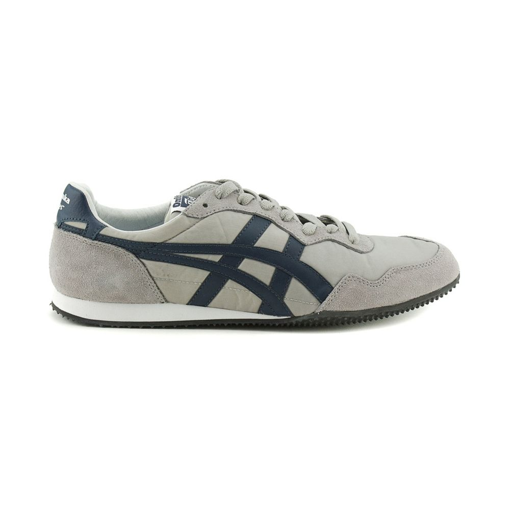 Mens Onitsuka Tiger Serrano Athletic Shoe, Gray Navy Journeys Shoes