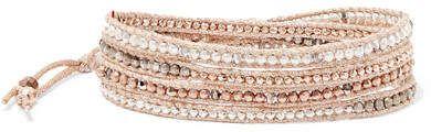 Chan Luu Silver-tone, Swarovski Crystal And Bead Bracelet - Pink
