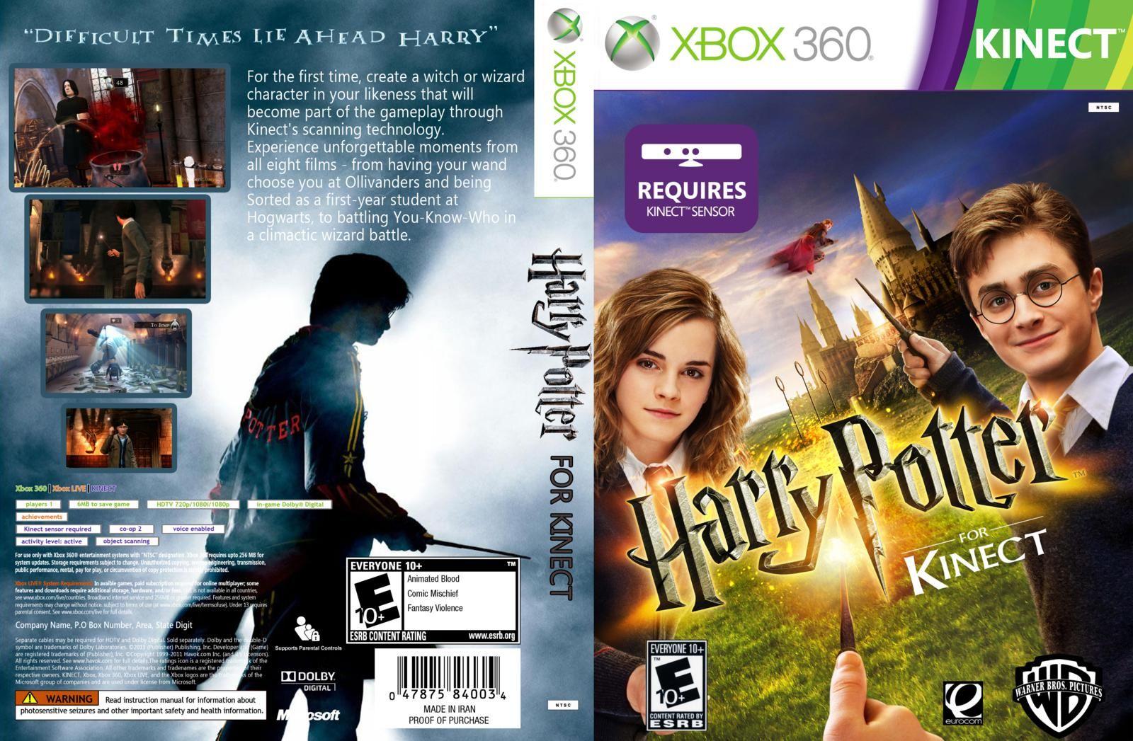 Harry Potter Kinect XBOX 360 Xbox kinect, Xbox, Kinect