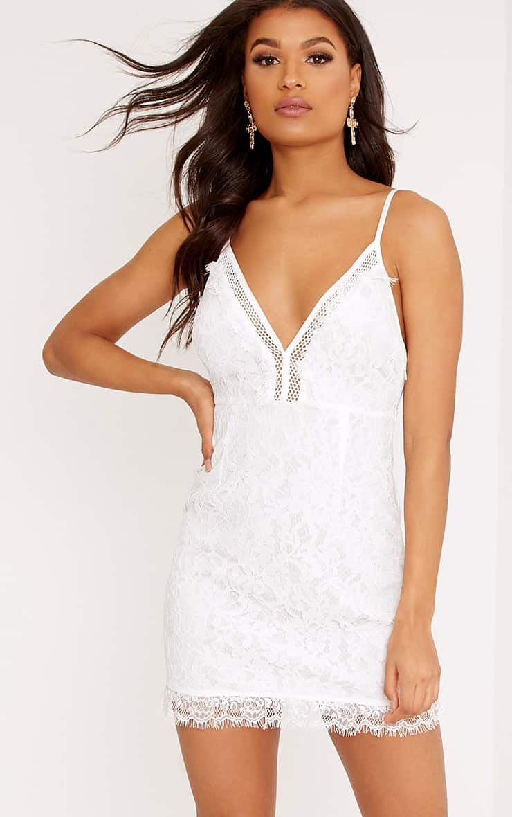 20c4858240a Giggi White Strappy Lace Shift Dress