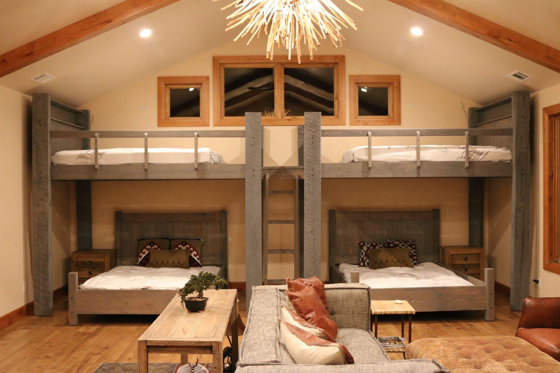 Custom Rustic Bunk Bed room Custom bunk beds, Bunk beds
