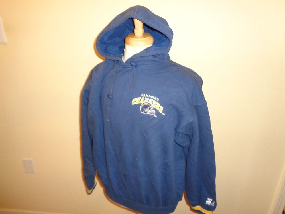 first rate 3ed9b a2a01 XL Mens VTG 90s Starter San Diego Chargers pullover hoodie ...