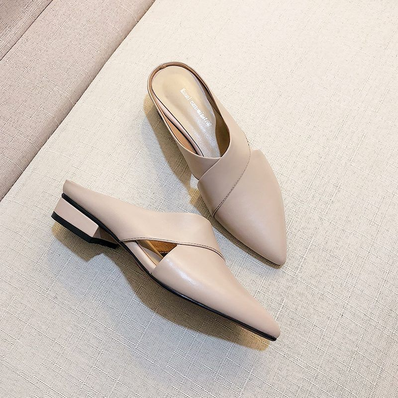 Chiko Tamia Pointed Toe Block Heels ClogsMules | Pointed