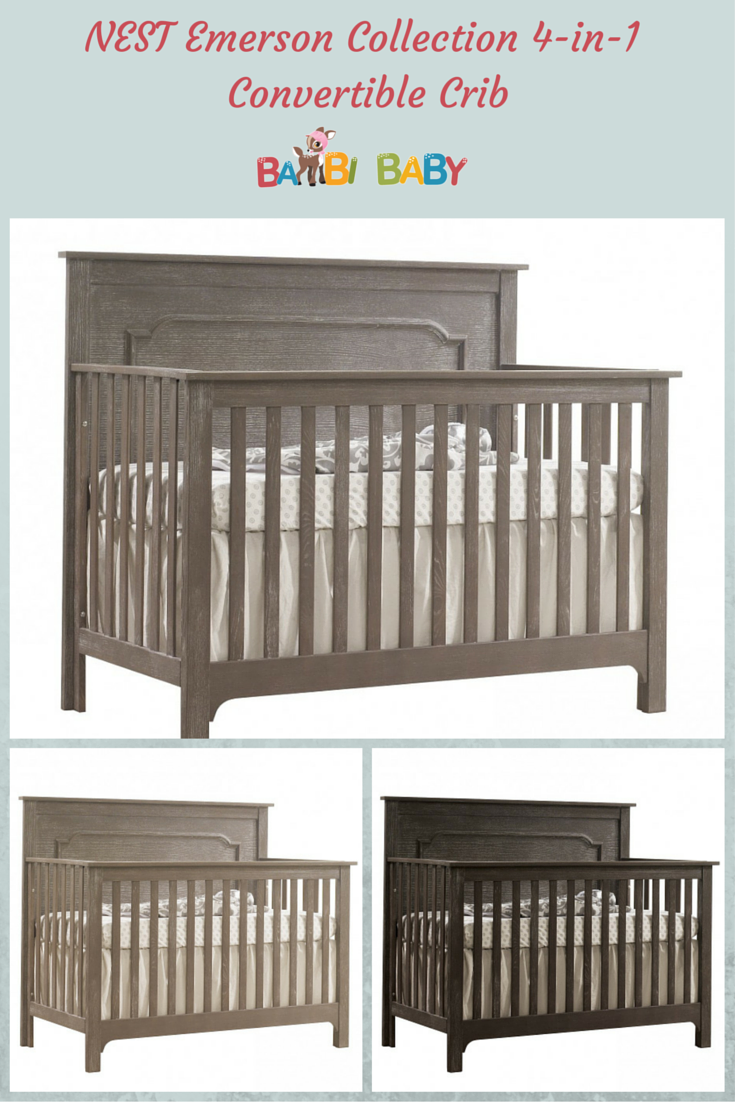 Nest Emerson Collection 4 In 1 Convertible Crib Pinterest Cot