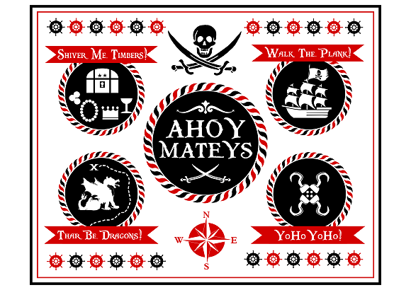 image regarding Pirates Printable Schedule identified as Totally free printable pirate get together welcome indicator! #pirate #social gathering