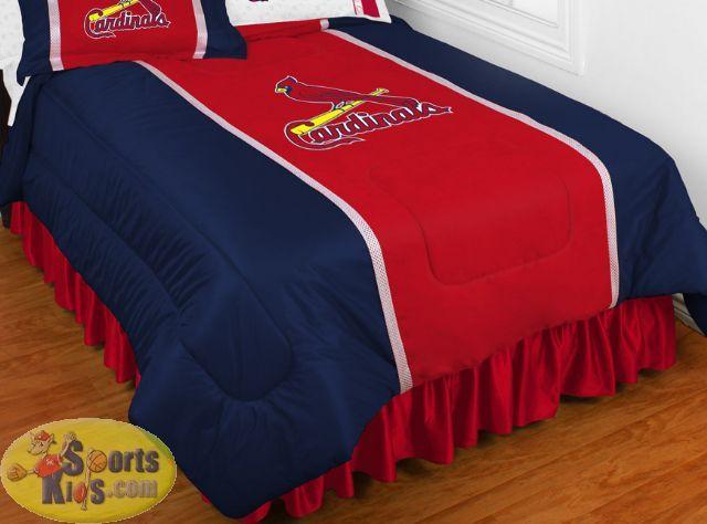 Mlb St Louis Cardinals Sidelines Bedding Comforter Sportskids