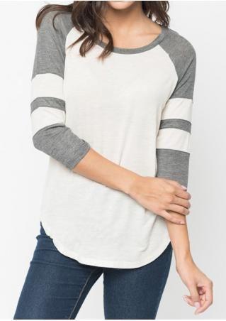 8bacedcd Color Block Splicing T-Shirt | FairySeason Tops | Pinterest | Tops ...