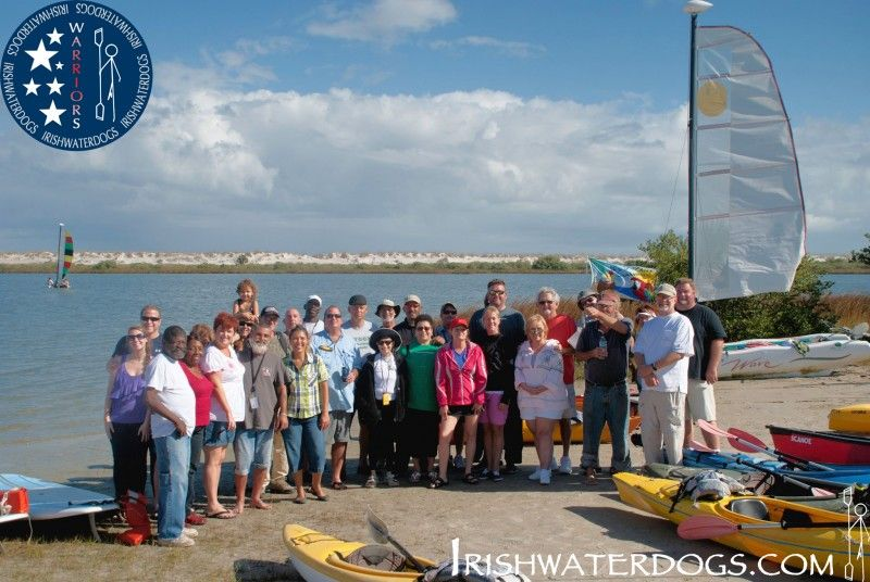 Veterans kayaking and kayak fishing with The IRISHWATERDOGS WARRIORS Program Florida. Dec 2nd 2012.