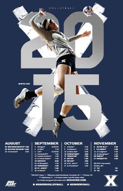 Posterswag Com Top 30 Ncaa Volleyball Schedule Posters Smsports