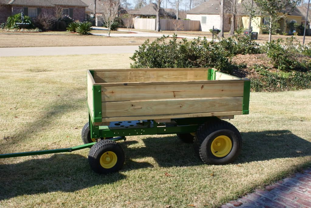 Craftsman Yard Dump Trailers : Ok odd question i bought an old jd lt for scrap and