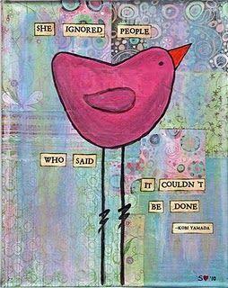 Sweet bird print, art journalling