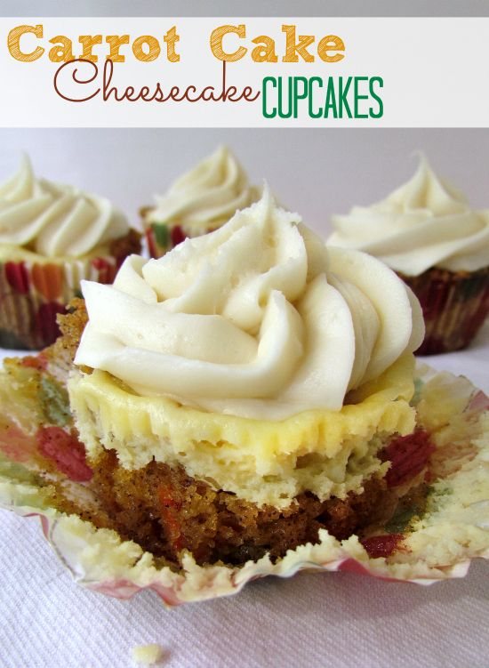 carrot cake cheesecake cupcakes