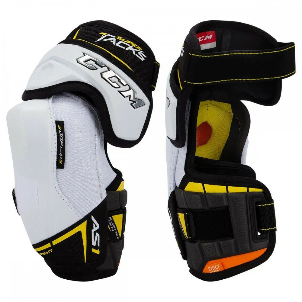 Details About Ccm Super Tacks As1 Hockey Elbow Pads Sr Jr Hockey Elbow Pads Elbow Pads Hockey