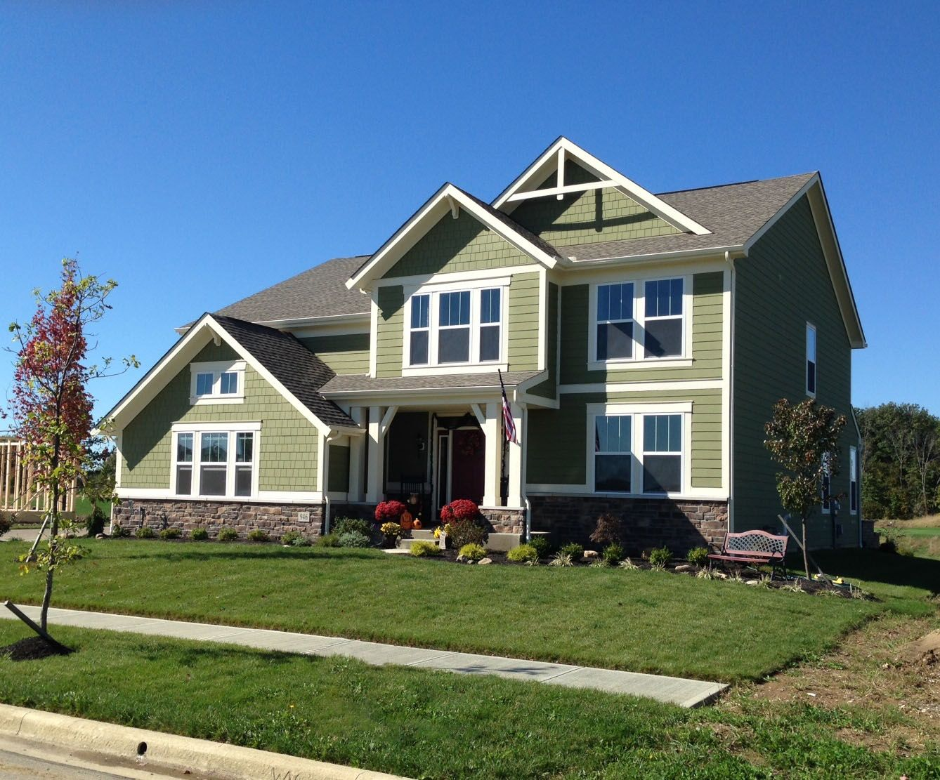 Fischer Homes Blair Western Craftsman Design Exteriors