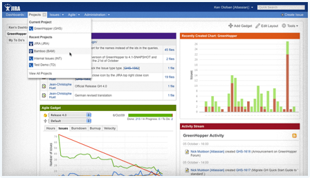 JIRA sits at the center of your development team, connecting the team and the work being done. Track bugs and defects, link issues to related source code,plan agile development, monitor activity, report on project status, and more.