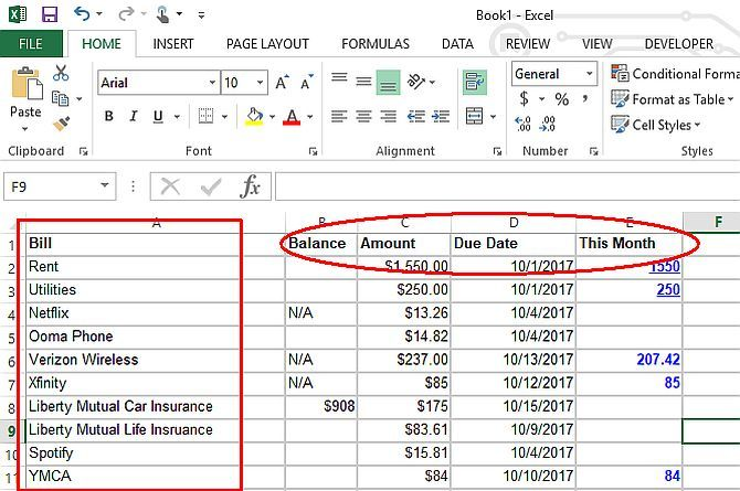 Make A Personal Budget With Microsoft Excel In 4 Easy Steps Personal Budget Budget Spreadsheet Budgeting Finances