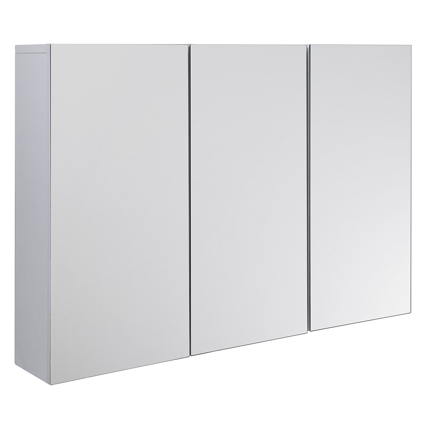 Buy john lewis gloss triple mirrored cabinet white from our