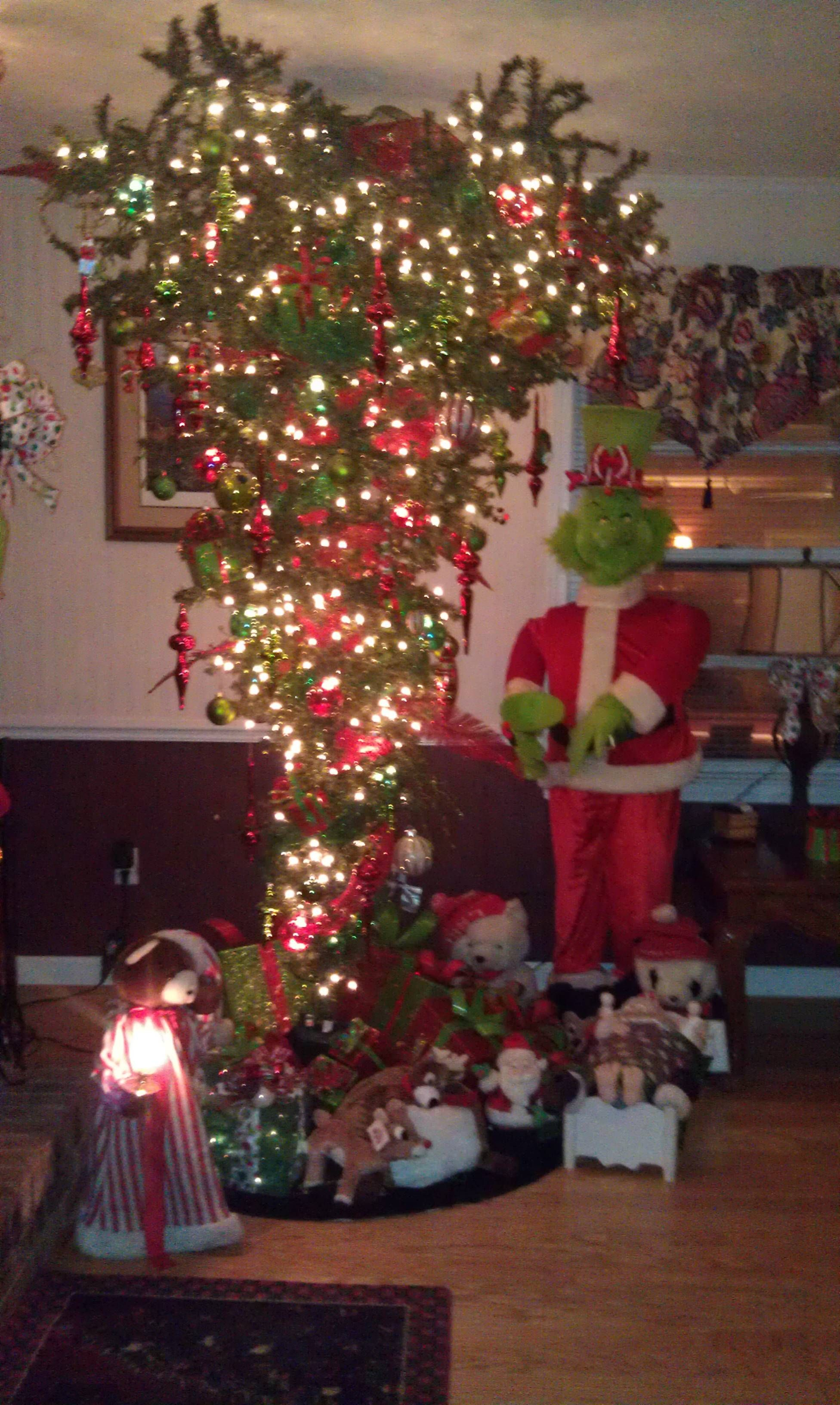 Upside Down Grinch Tree Upside Down Christmas Tree Christmas Holiday