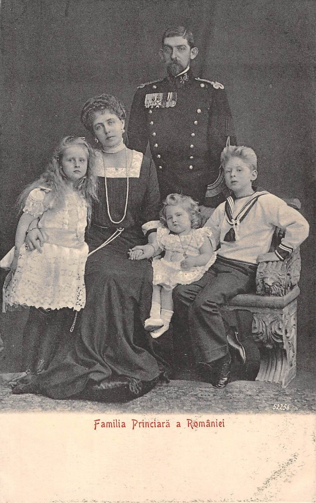 King Ferdinand of Romania with Queen Mary and their children.