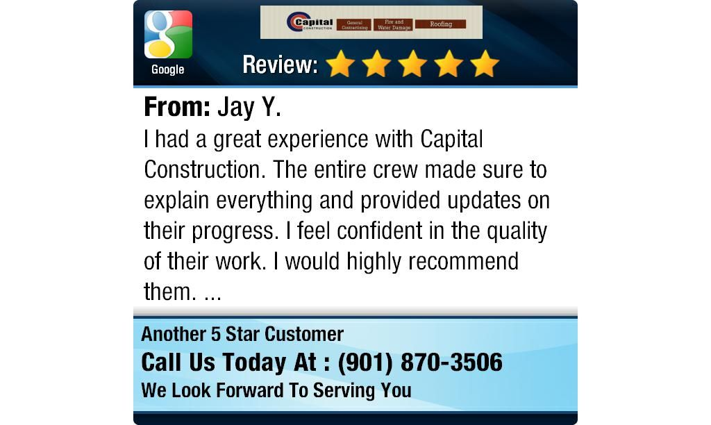 I had a great experience with capital construction the